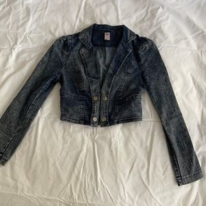 Juicy couture Jean short jacket size 6